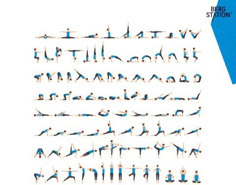 Bergstation Yoga Stellung